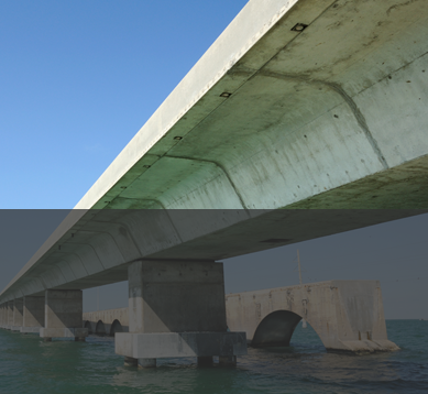 Image of a bridge using prestressed and precast chemical concrete admixtures